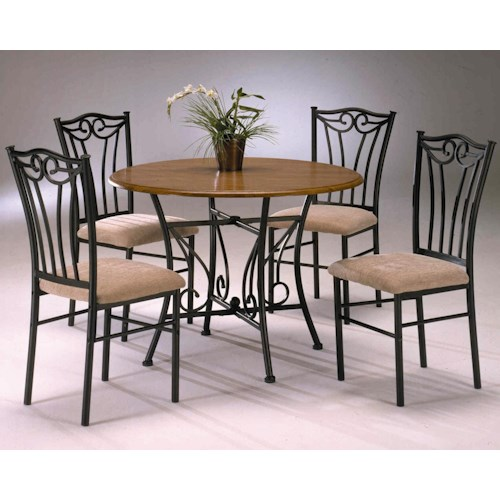 Bernards Heritage 5 Piece Wood and Metal Dinette