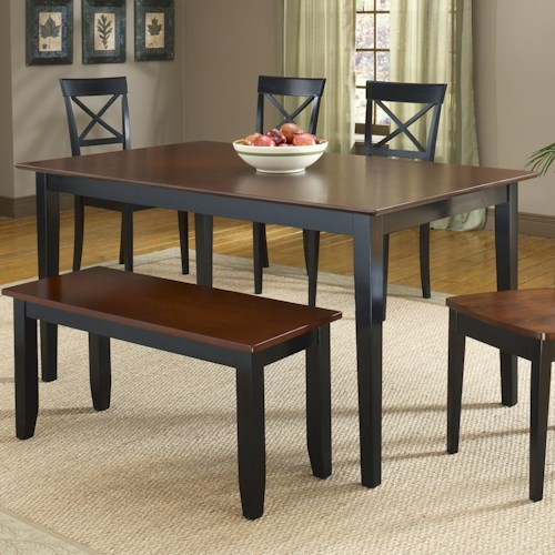 Bernards Jaguar Black/Merlot Dinette Table