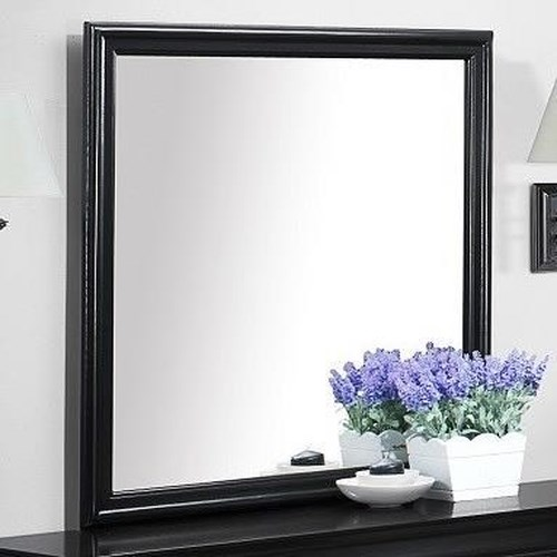 Bernards Jet Mirror in Black Paint Finish