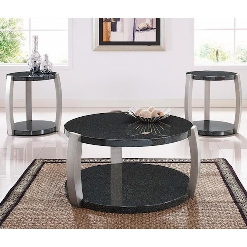 Morris Home Furnishings Orbit Contemporary 3-Pack of Occasional Tables