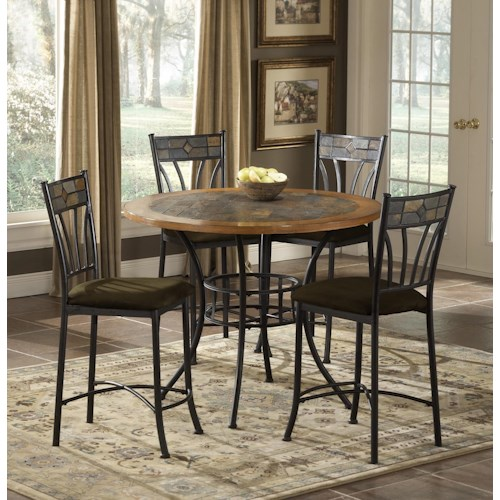 Morris Home Furnishings Red Rock 5 Piece Pub Table Casual Dining Set