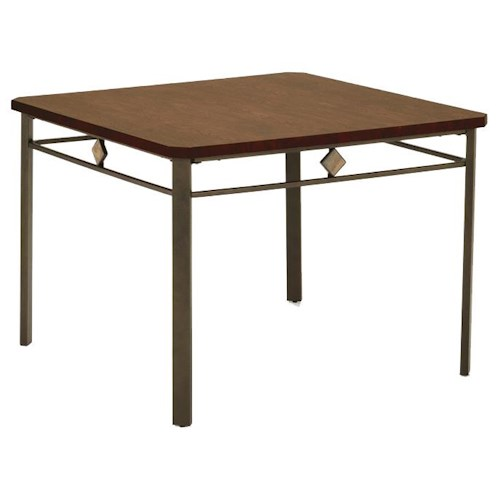 Morris Home Furnishings Roman Square Dinette Table with Metal Legs