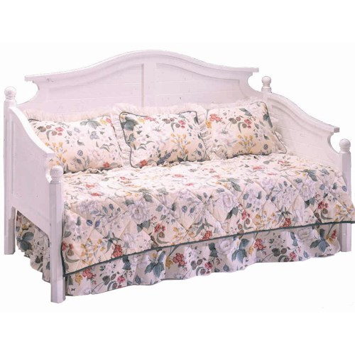 Morris Home Furnishings Somerville White Twin Traditional Americana Daybed