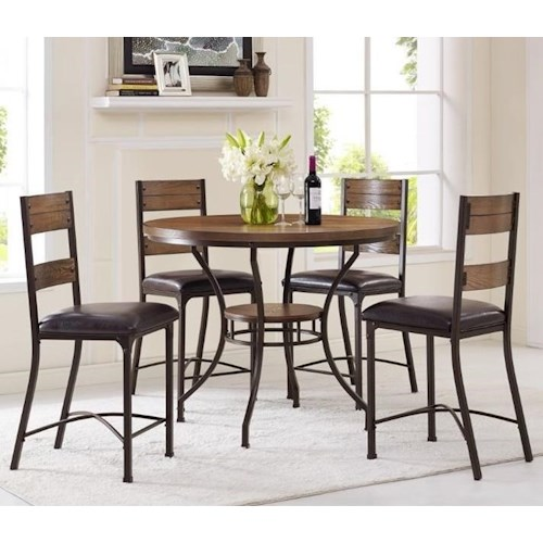 Morris Home Furnishings Stockton 5-Piece Counter Height Pub Table Set