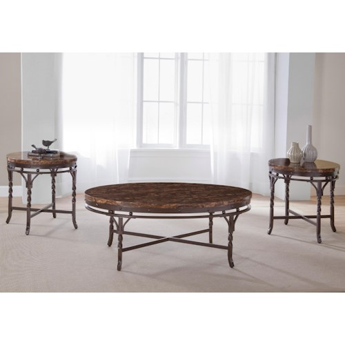 Morris Home Furnishings Tuscan Faux Marble 3-Pack Table Set