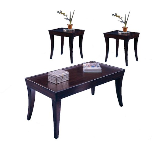 Morris Home Furnishings Versailles 3 Pack of Cocktail Table & 2 End Tables