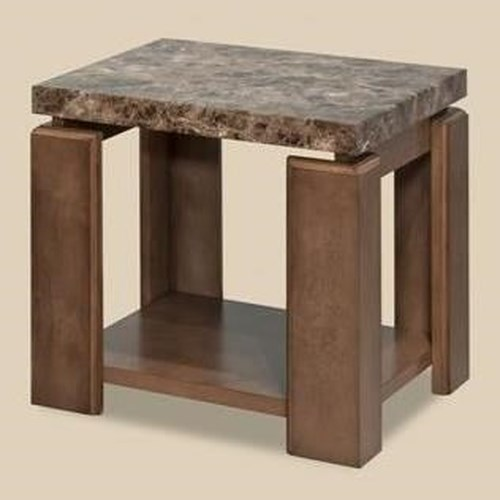 Morris Home Furnishings Waxhaw Contemporary Faux Marble End Table