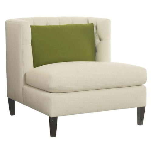 Bernhardt Abbey  Armless Chair with Button Tufted Seat Back