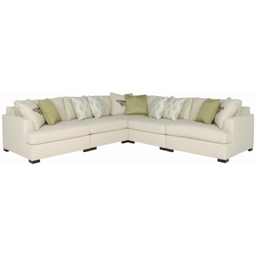 Bernhardt Adriana Five Piece Sectional Sofa