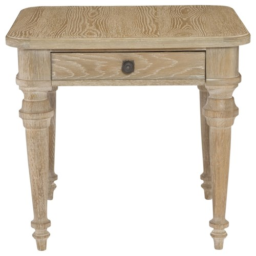 Bernhardt Antiquarian Square End Table with Drawer
