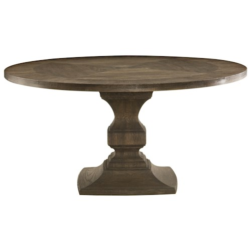 Bernhardt Antiquarian Round Single Pedestal Dining Table