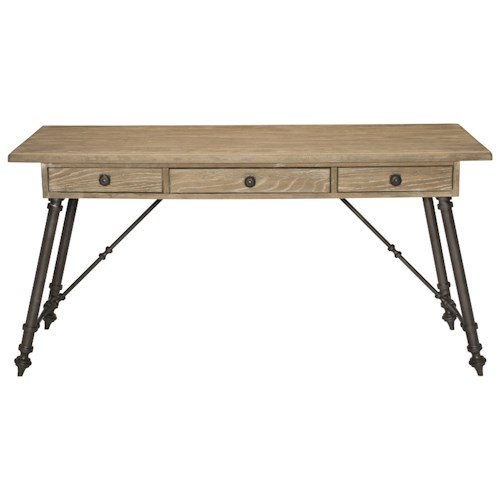 Bernhardt Antiquarian Desk with Splayed Metal Base