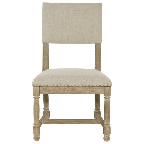 Bernhardt Antiquarian Upholstered Side Chair with Stretcher