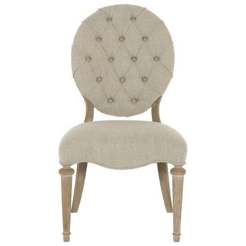 Bernhardt Antiquarian Side Chair with Button Tufting