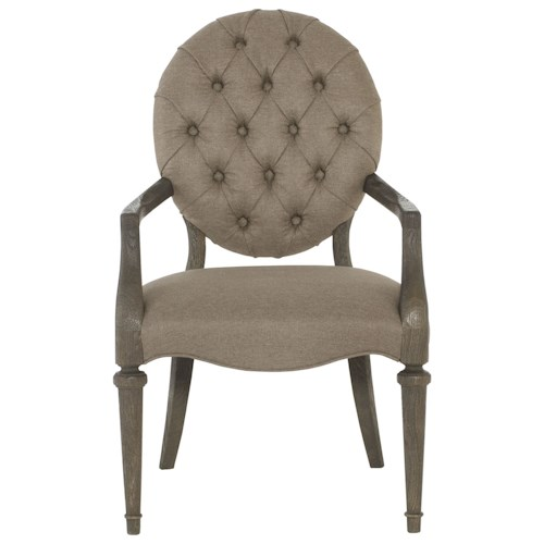 Bernhardt Antiquarian Arm Chair with Button Tufting