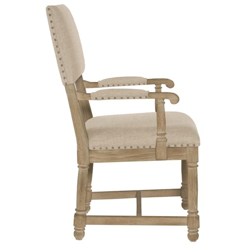 Bernhardt Antiquarian Customizable Upholstered Arm Chair