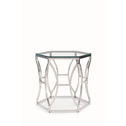 Bernhardt Argent Glass Side Table