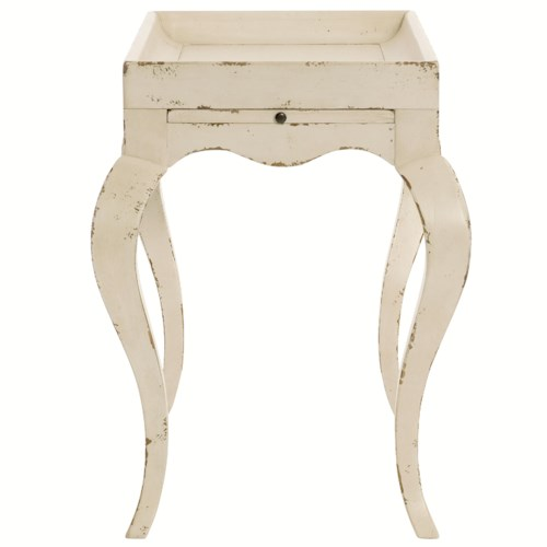 Bernhardt Auberge Chairside Table with Pull-Out Shelf