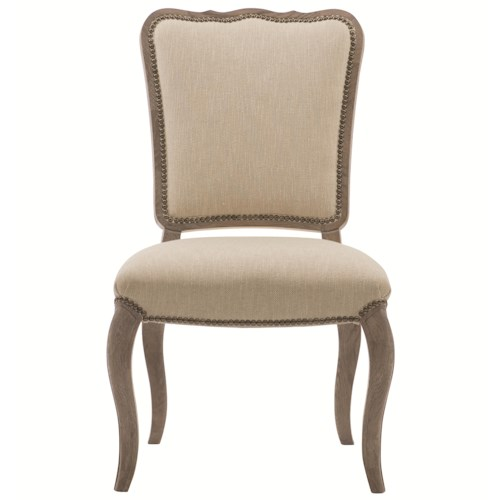 Bernhardt Auberge Upholstered Dining Side Chair with Nailhead Trim