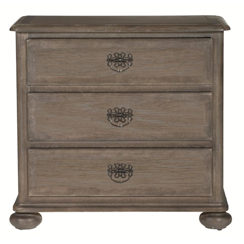 Bernhardt Belgian Oak Rustic 3 Drawer Nightstand or Chest