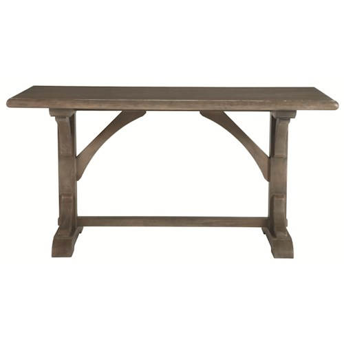 Bernhardt Belgian Oak White Oak Gathering Pub Height Table in Transitional Style
