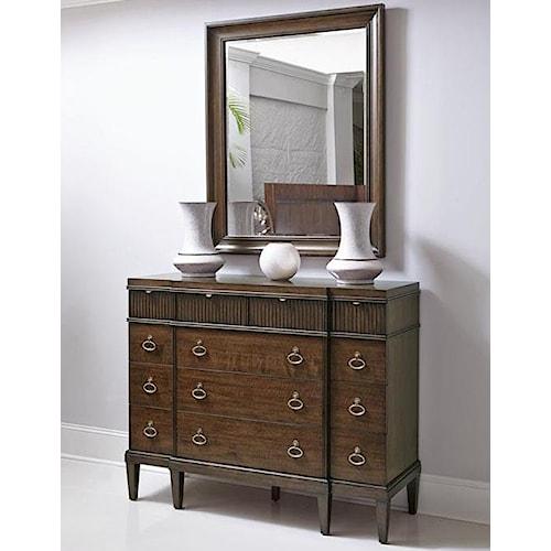Bernhardt Beverly Glen Small Dresser and Mirror Set with 12 Drawers