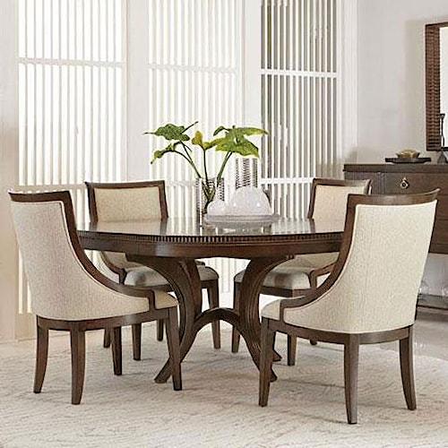 Bernhardt Beverly Glen 5 Piece Dining Set with Round Table