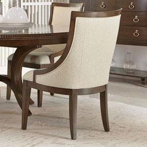 Bernhardt Beverly Glen Dining Chair with Sloped Arms