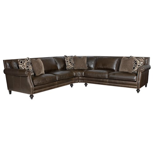 Bernhardt Brae  Sectional Sofa with Five Seats