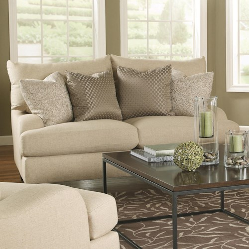 Bernhardt Brooke  Upholstered Loveseat with Block Legs