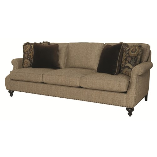 Bernhardt Celeste  Sofa with Rolled Arms and Nailhead Trim
