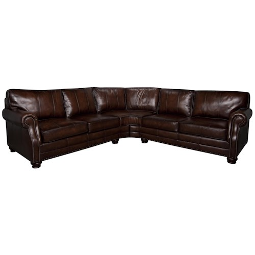 Bernhardt Princeton 2-Piece 100% Leather Sectional