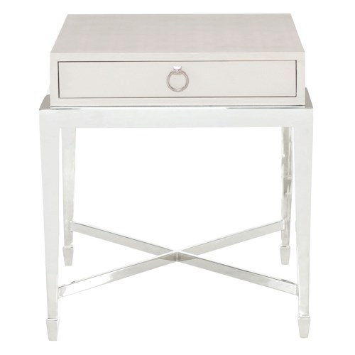 Bernhardt Criteria End Table with Steel Base