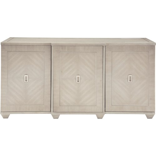 Bernhardt Criteria 3-Door Buffet with Stainless Steel Inlay
