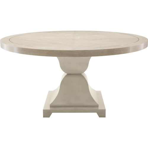 Bernhardt Criteria Round Dining Table with Cast Pedestal Base