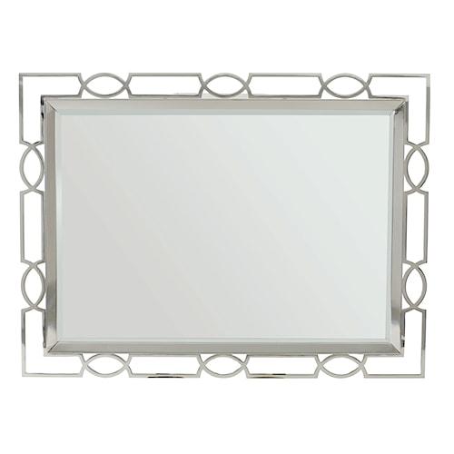 Bernhardt Criteria Metal Mirror with Open Fretwork Frame