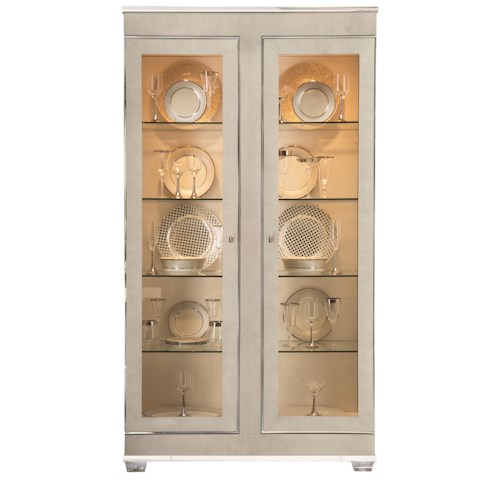 Bernhardt Criteria Display Cabinet with 4 Shelves and Halgen Lighting