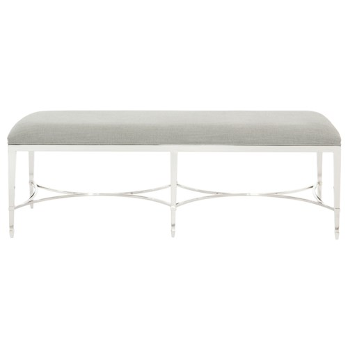 Bernhardt Criteria Metal Bench with Upholstered Seat