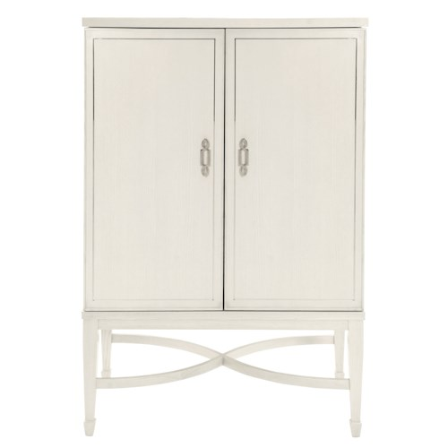 Bernhardt Criteria Bar Cabinet with Stainless Steel Inlays