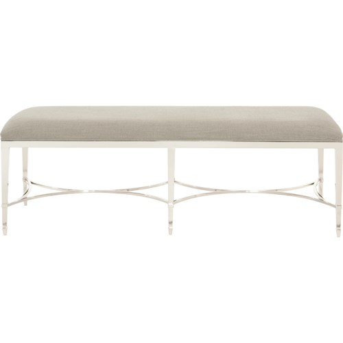 Bernhardt Criteria Customizable Bench with Upholstered Seat