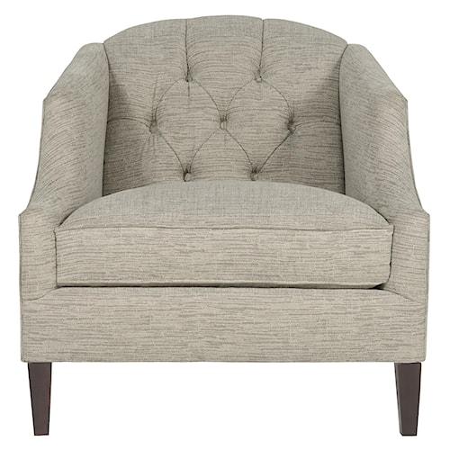 Bernhardt Diane Den Chair with Button-Tufted Seat Back