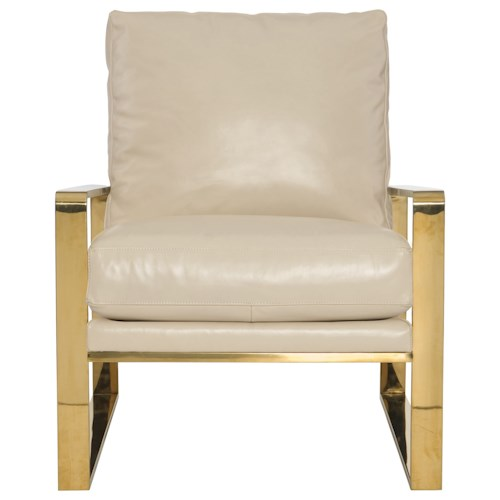 Bernhardt Dorwin Chair with Gold Metal Frame