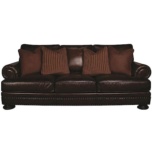 Bernhardt Foster 100% Leather Sofa