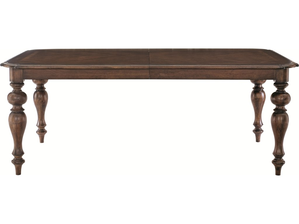 Set Includes Rectangular Dining Table with Two 20 Inch Leaves