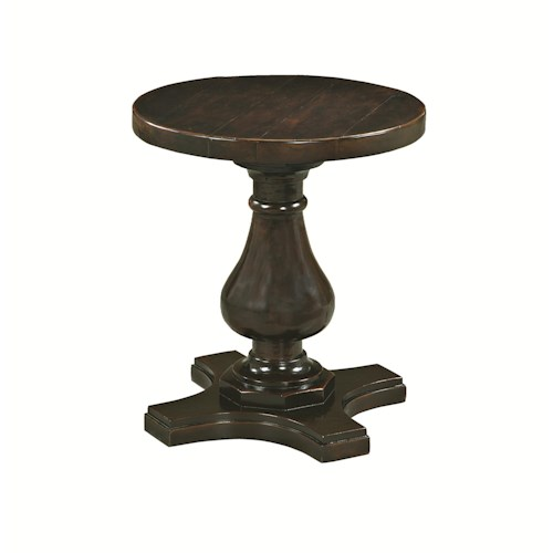 Bernhardt Freeport Round Side Table with Pedestal Base