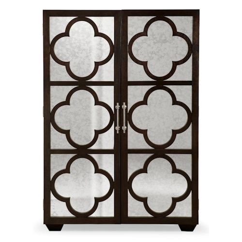 Bernhardt Haven Two Door Cabinet with Quatrefoil Overlay Design