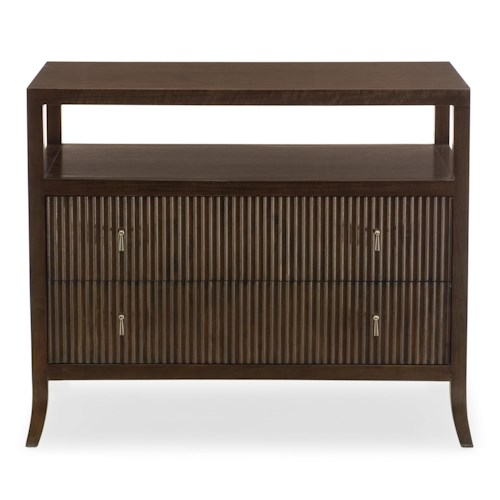 Bernhardt Haven Bachelor's Chest with 2 Drawer and Open Compartment