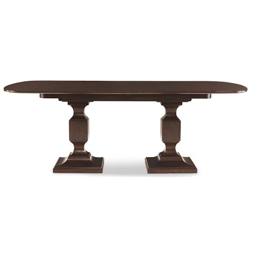 Bernhardt Hawkins Double Pedestal Dining Table with 2 Leaves