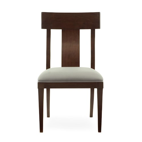 Bernhardt Hawkins Side Chair with Upholstered Seat
