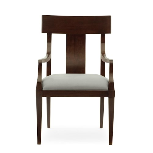 Bernhardt Hawkins Arm Chair with Upholstered Seat